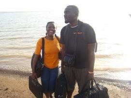 Erica and Samdan on the road.